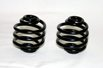 "Coil Type 2"" Solo Seat Springs, Black finish, Pair"