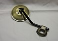 "4"" Mirror, Antique Brass Head & Clamp for 1"" & 7/8"" Handlebars"